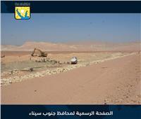 محافظ جنوب سيناء يتابع أعمال حماية أبورديس من أخطار السيول