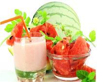 سموثي البطيخ والموز.. طريقة التخلص من حرارة الصيف