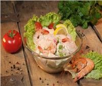 لعشاق المأكولات البحرية| سلطة الجمبري بالمايونيز