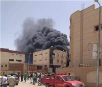 انتداب المعمل الجنائي لمعاينة حريق «مصنع فوم» بالعاشر من رمضان