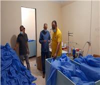 إحالة واقعة مصنع الملابس الطبية من الخامات المجهولة بالدقهلية للنيابة