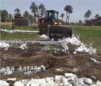 إزالة 466 حالة تعدي على الأراضي الزراعية بالغربية في 5 شهور