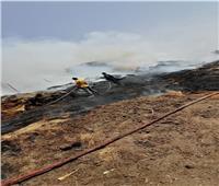 فيديو | السيطرة علي حريق بمصنع كتان بقرية بسمنود