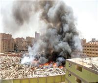 حريق هائل بمخزن إشغالات فى الهرم
