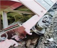 خروج قطار بضائع عن القضبان بإمبابة.. ومصدر: لا إصابات