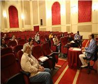 محمد صبحي يواصل بروفات مسرحية «نجوم الضهر»