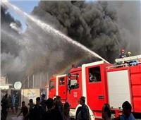 إخماد حريق داخل محل في المعادي