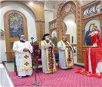 الأنبا باسيليوس يزور كنيسة السيدة العذراء بجاهين
