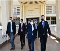 وزير الرياضة ورئيس الوكالة الدولية لمكافحة المنشطات في جولة تفقدية بإستاد القاهرة