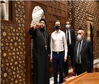 وزير الرياضة ورئيس الوكالة الدولية لمكافحة المنشطات في زيارة لمجمع الأديان