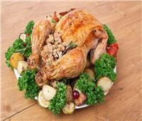 طريقة تحضير دجاج محشي بالأرز والخضار