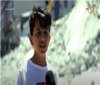طفل فلسطيني: «وزعت العصائر على العمال المصريين المشاركين في إعادة الإعمار»