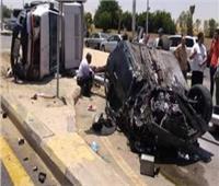 إصابة 10 أشخاص في حادث تصادم سياراتين بالإسماعيلية