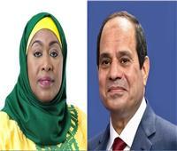السيسي لرئيسة تنزانيا: لا بديل عن التوصل لاتفاق قانوني ملزم بشأن سد النهضة
