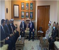 نقيب الأشراف يستقبل وفدا فلسطينيا رفيع المستوى برئاسة مستشار الرئيس الفلسطيني