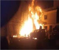 حريق هائل يلتهم مصنع موبيليا بالجيزة