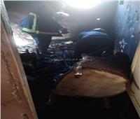 مصرع طفلين في حريق شقة سكنية بسيدي بشر بالإسكندرية  صور
