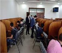 رئيس جامعة بنها يتفقد الامتحانات بكلية الحقوق ومركز الاختبارات الإلكتروني