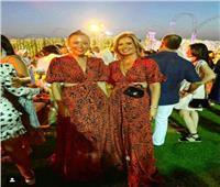 بنفس الفستان.. إطلالة لقاء الخميسي وهنا شيحة في عقد قران «محمد فراج»