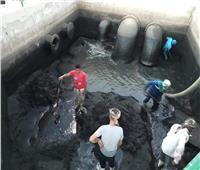 صور| تنفيذ خطة لتطهير محطات الصرف الصحي بمحافظة قنا