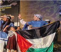 فلسطين تشارك في المهرجان الدولي للفنون التراثية بمصر   صور