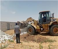 إزالة 15 حالة تعديبالبناء على الأراضي الزراعية بالبحيرة