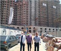مسئولو «الإسكان» يتفقدون سير العمل بالأبراج في منطقة مثلث ماسبيرو | صور