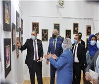 رئيس جامعة كفرالشيخ يفتتح 5 معارض فنية لـ«طلاب النوعية»