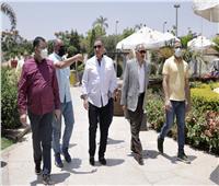 «الخطيب» يتفقد أعمال تطوير منشآت «فرع الأهلي بالشيخ زايد»
