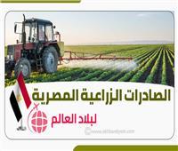 إنفوجراف| تعرف على  الصادرات الزراعية المصرية لبلاد العالم