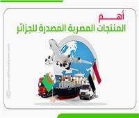 إنفوجراف|  تعرف على أهم المنتجات المصرية المصدرة للجزائر