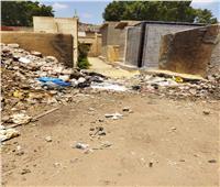حيوانات نافقه ومخلفات بناء بمقابر قرية «محلة مرحوم» بالغربية