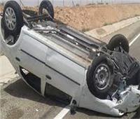 إصابة ربة منزل وشاب في حادث مروري بقنا
