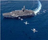 حاملة الطائرات الأمريكية رونالد ريجان تدخل بحر الصين الجنوبي  صور