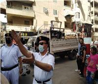 تحرير 994 محضر إشغال طريق بالجيزة