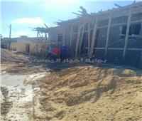 إزالة بناء مخالف في قرى العامرية غرب الإسكندرية  صور