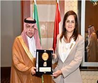 هالة السعيد تكرم وزير التجارة والوفد السعودي