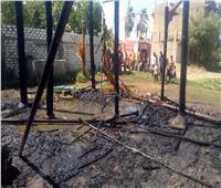 السيطرة على حريق في 3 أحواش و4 منازل بقنا.. صور