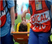 بعد اشتباه إصابته في العمود الفقري.. تطورات الحالة الصحية للاعب روسيا