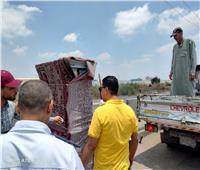رفع ٣٠٧ حالات إشغال طريق مخالفة بنطاق ٣ مراكز بالبحيرة