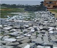 إيقاف أعمال مخالفة وإزالة تعديات بمساحة 1160 متر مربع بنطاق 3 مراكز بالبحيرة