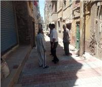عبد ربه يتابع أعمال وضع الإنترلوك بشوارع مدينة منوف