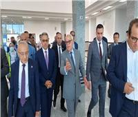 محافظ بورسعيد يتفقد الميناء البري الجديد والحديقة الدولية