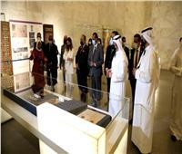 وفد وزراء الإعلام العرب يزور متحف الحضارة