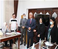رئيس جامعة المنوفية يتفقد المركز الدولي لتنمية قدرات أعضاء هيئة التدريس والقيادات
