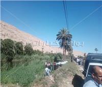 إصابة 8 أشخاص في انقلاب ميكروباص على الزراعي الشرقي بأسيوط   صور