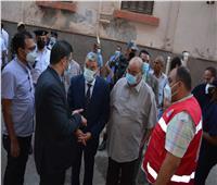 محافظ المنيا يطمئن على مصابي حادث تصادم ميكروباص و3 سيارات بالطريق الدائري