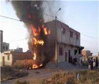 مصرع عامل وتفحم جثته في حريق منزل بقنا