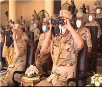 وزير الدفاع يشهد المرحلة الرئيسية للمناورة «رعد 5» بالذخيرة الحية