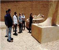 صور| نائب محافظ سوهاج يتفقد المنطقة الأثرية بأخميم